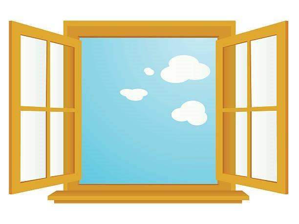 Offenes Fenster Stock-Vektoren und -Grafiken - iStock